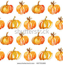 watercolor illustration pumpkin autumn thanksgiving
