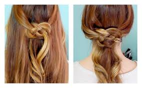 celtic wedding hairstyles how to celtic knot half updo and ponytail youtube