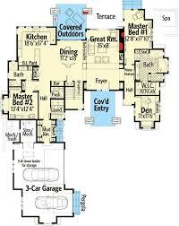 Two Master Bedroom Floor Plans 450 Best House Plans Images On Pinterest House Floor Plans