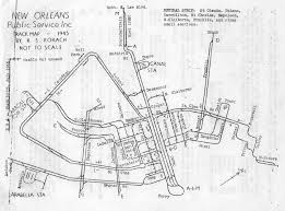 Battle Of New Orleans Map by Track Map Of New Orleans Public Service Inc Streetcar Lines