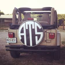 girly black jeep jeep tire cover monogram ats