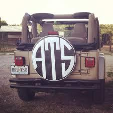jeep wrangler girly jeep tire cover monogram ats