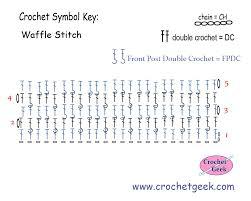 pattern of crochet stitches crochet waffle stitch crochet pattern