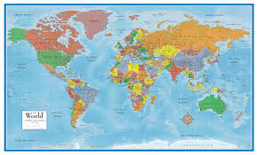 wall maps classic premier 3d world wall map poster mural swiftmaps