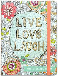 amazon com live love laugh coloring journal write color