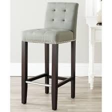 furniture grey tufted barstool for modern bar decor
