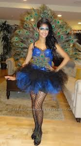 unique halloween costumes beautiful diy woman u0027s peacock costume halloween costume contest