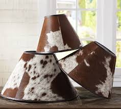 Cowhide Christmas Stockings Pb Basic Cowhide Lamp Shade Pottery Barn