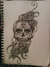 b w sugar skull coloured hibiscus flowers instead placement