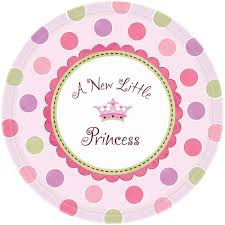 little princess baby shower party plates from all you need to
