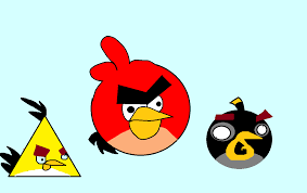 top angry birds animated screensaver vector drawing free vector