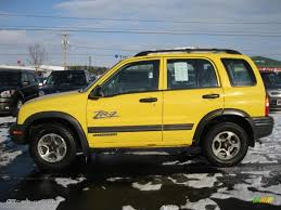 chevy tracker convertible yellow 2002 chevrolet tracker zr2 4wd hard top exterior photo