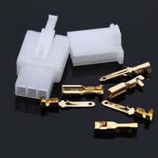 1 set 3 plug pin flat plug connectors 2 8mm motorcycle scooter car