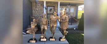 halloween trophy hilarious family dresses up like trophies for halloween