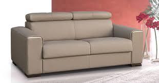 canapé lit cuir rialto convertible cuir système express fast bed personnalisable sur