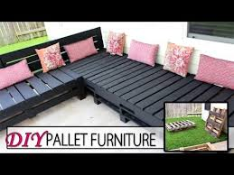 diy pallet furniture patio sectional youtube