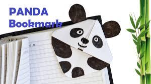 how to make paper panda bookmark easy tutorial youtube