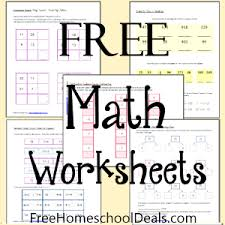 free math worksheets 1st 2nd grade free homeschool deals