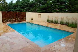 Travertine Patio Contemporary Millersville Residence And Patio Design