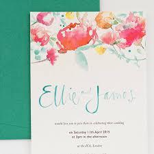Calligraphy Wedding Invitations Watercolour Calligraphy Wedding Invitation By Gemma Milly