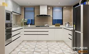 white contemporary kitchen cabinets gloss modern white high gloss pvc kitchen cabinet op15 pvc05