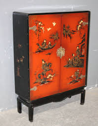 Bar Cabinet For Sale Chinoiserie Oriental Themed Painted Bar Cabinet J6433 For Sale