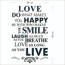 Live Love Laugh Home Decor Peel And Stick Love Happy Smile Live Removable Vinyl Wall Quote