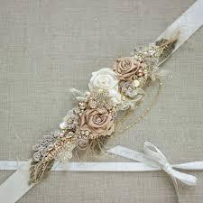 wedding sash gold floral bridal belt sash wedding sashes belts gold