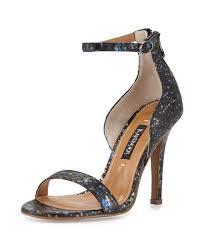 lyst kay unger mannix paint splatter snakeskin sandal in metallic