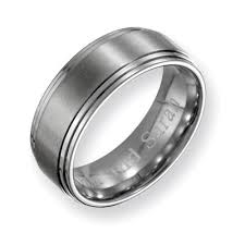 men s 8 0mm engraved stainless steel wedding band 27 characters
