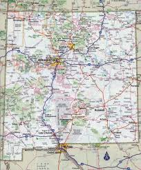 Map Of Mexico States And Cities by Large Detailed Roads And Highways Map Of New Mexico State With All