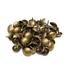 Upholstery Pins 50 100pcs Antique Upholstery Tacks Brass Nails Furniture Decor