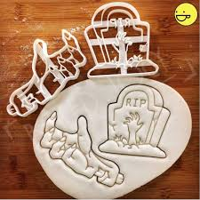 halloween fondant cutters zombie themed cookie cutters zombie u0027s hand rip tombstone