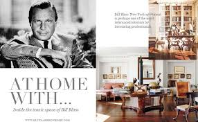 at home with bill blass blue carreon home