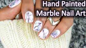 diy hand painted marble nail art youtube