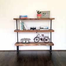 Reclaimed Wood Shelves by The Colorado Reclaimed Wood U0026 Pipe Bookshelf