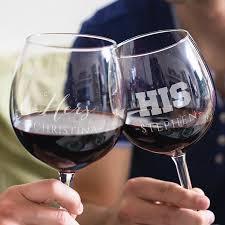 his hers wine glasses his hers wine glasses set shopeholic