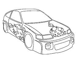 coloring pages of flames car with flames coloring page coloringcrew com