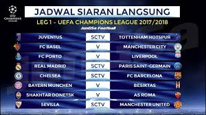 Jadwal Liga Chion Jadwal Siaran Langsung Sctv Sevilla Vs Manchester United Di Babak