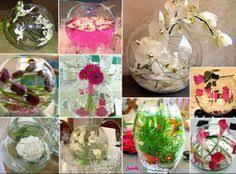 boulette papier mariage centres de table et blanc dans vase boule deco