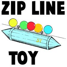 How To Build A Backyard Zip Line by How To Make A Mini Zip Line Moving Toy Crafts Idea For Kids Kids