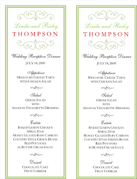 wedding menu cards printable menu cards cool designs 123