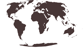 Map Projection Free Vector World Maps