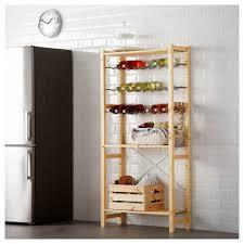ivar shelving unit with bottle racks ikea