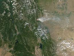 Alberta Wildfire Zones by Wildfires In Glacier National Park And Alberta Image Of The Day