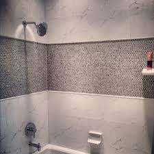 mosaic tiles in bathrooms ideas porcelain mosaic tile in the shower bathroom