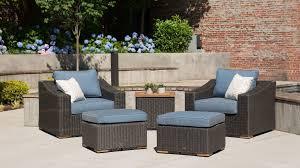 Patio Furniture Seating Sets - new boston 6 piece patio set sofa 2 lounge chairs 2 ottomans