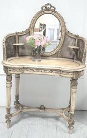 vanities antique french cream dressing table mirror antique