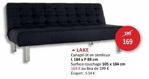 canap lit simili cuir weba promotion lake canapé lit en similicuir produit maison