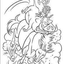 Scar Scares Simba Coloring Pages Hellokids Com Coloring Scares